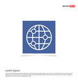 world globe icon - blue photo frame vector image vector image