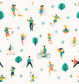 world health day seamless pattern with vector image