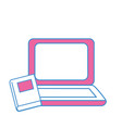 laptop with book knowledge to study icon vector image