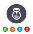 marry me ring sign icon engagement symbol vector image