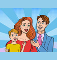 comic book style family vector image