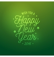 Happy New Year light green background Card vector image