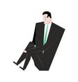 sad businessman sorrowful boss crying guy sadness vector image