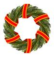 Traditional green wreath for Christmas Christmas vector image