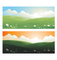 2 springs banners landscape day and sunscape with vector image vector image