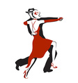 Abstract dancing couple vector image vector image
