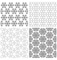 Arabic geometric patterns vector image vector image