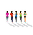 back view of woman runner in flat design vector image vector image