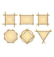 bamboo frames chinese wooden stick signs vector image vector image