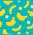 banana background yellow banana pattern vector image vector image