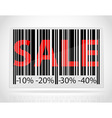 barcode sale vector image