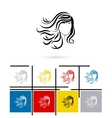 Beautiful female face icon vector image vector image