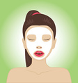 Beautiful woman with facial mask vector image vector image