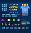 big set buttons icons elements for space game vector image