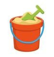 Bucket kids toy vector image