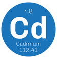 Cadmium chemical element vector image vector image
