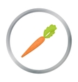 Carrot icon cartoon Singe vegetables icon from vector image vector image