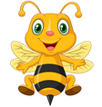 Cartoon adorable bee vector image vector image