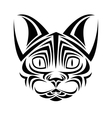 cat tattoo animal design vector image vector image