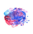 colorful watercolor stain vector image