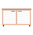 cupboard for examining pets in vet office vector image