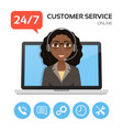 customer servicetechnical support call center vector image vector image