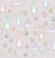 cute pastel cartoon bunny rabit animal with eggs vector image vector image