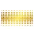 dice golden halftone pattern vector image