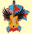 electric guitar and flag vector image