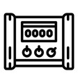 electric microcontroller icon outline style vector image