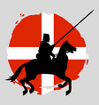 england knight warrior silhouette on white vector image vector image