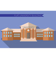Flat design modern of University building icon vector image vector image