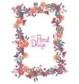 Floral frame with flowers berries and butterfly vector image vector image
