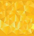 gold polygons triangle shapes background abstract vector image vector image