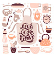 greeting card live love bake calligraphy lettering