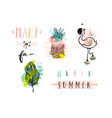 hand drawn abstract summer holiday elements vector image vector image