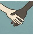 handshake vintage vector image vector image