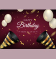 happy birthday celebration typography design for vector image vector image