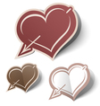 heart labels vector image