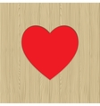 Hole in heart shape on wooden texture vector image