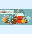 house cleaning collection of shiny work vector image vector image