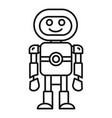 humanoid machine icon outline style vector image vector image