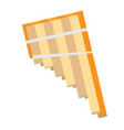 isolated panflute instrument vector image vector image