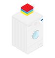 isometric washing machine vector image