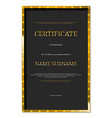 luxury certificate or diploma template vector image vector image