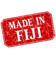 made in Fiji red square grunge stamp vector image vector image