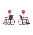 male black young wheelchair user vector image vector image