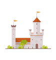 medieval fortress fairytale castle citadel with vector image
