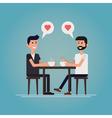 Meet a partner vector image