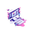 ometric concept designer workplace vector image vector image